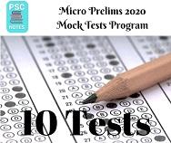 BPCS Micro Prelims 2020 Test Series- 10 Mock Tests